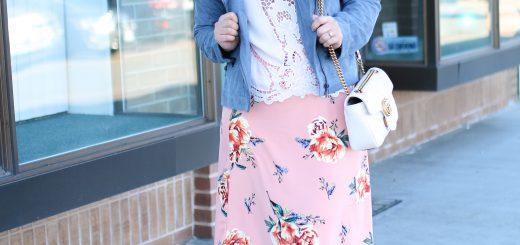 2 tenues de jupe florale chic | Gucci Giveaway